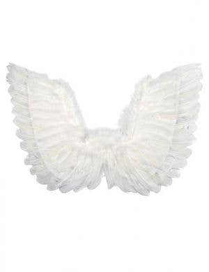 Large White Feather Pointed Angel Costume Wings