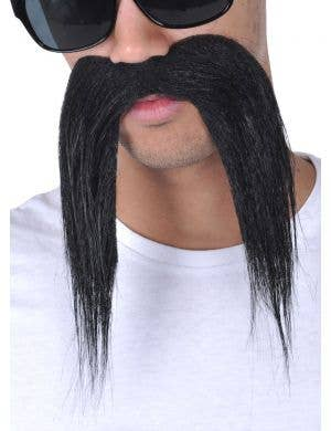 Bad Biker Novelty Black Moustache