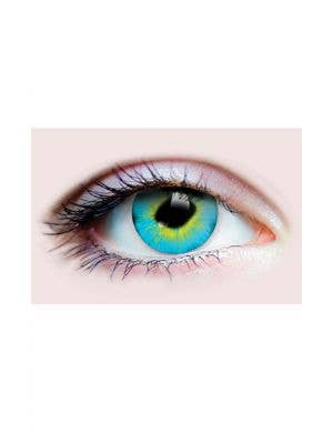 Strange Blue and Yellow Halloween 90 Day Wear Contact Lenses