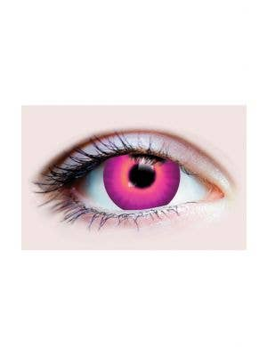 Fuchsia Pink Jinx Halloween 90 Day Wear Contact Lenses