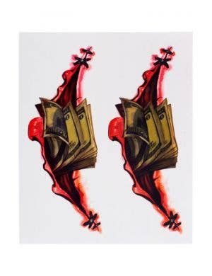 Bloody Claws Horror 3D Tattoos Costume Accessory