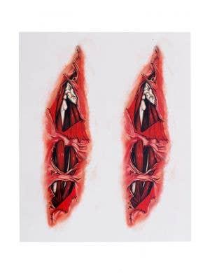 Razor Blade Horror 3D Tattoos Costume Accessory