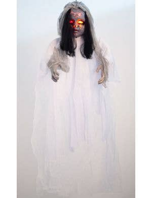 Laughing Creepy Light Up Ghost Doll Halloween Decoration