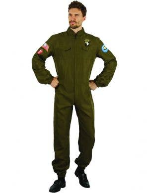 Fighter Pilot Men's Airborne Fancy Dress Costume