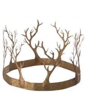 Fantasy Forest King Gold Metal Crown Accessory