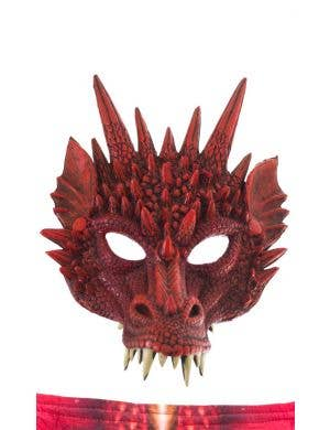 Dragon Kid's Red Halloween Mask And Wings Costume Accessory Set