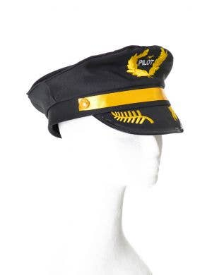 Pilot Hat Black With Yellow Band