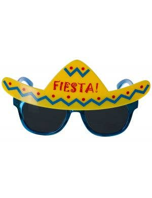 Mexican Fiesta Novelty Blue Costume Glasses