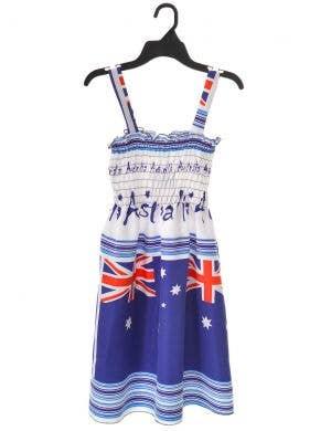 Aussie Flags Girls Australia Day Summer Dress