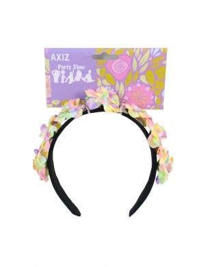 Pastel Rainbow Flower Girls Headband