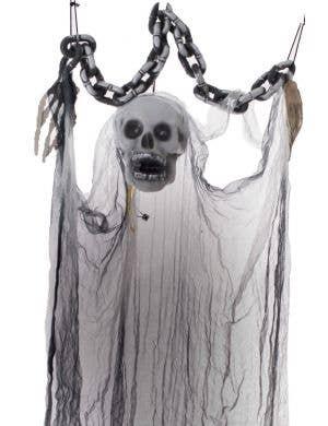 Hanging Animated Skeleton Ghost Halloween Decoration