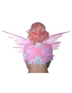 Pale Pink Glitter Fairy Wings Costume Accessory