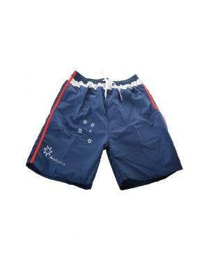 Navy blue, Red And White Men's Aussie Board Shorts