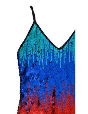 Sequined Rainbow Music Festival Women's Costume Dress