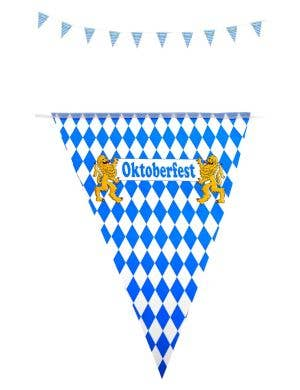 Oktoberfest Blue and White Bavarian Flags Decoration