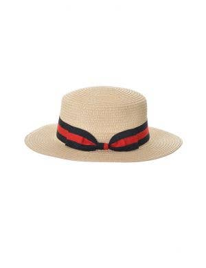 Straw Boater Adult's Costume Hat