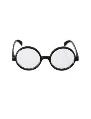 Nerd Round Black Frame Adult's Costume Glasses
