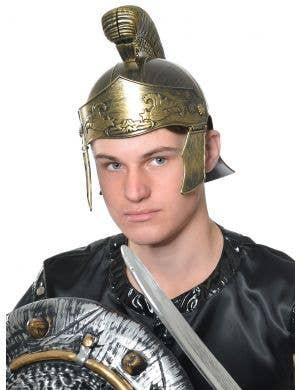 Roman Gladiator Men's Bronze Helmet Costume Accessory