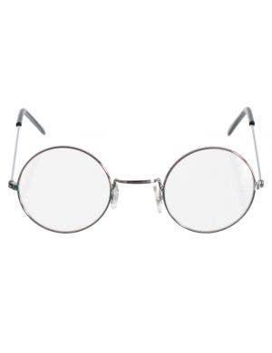 Round Silver Frame Clear John Lennon Glasses