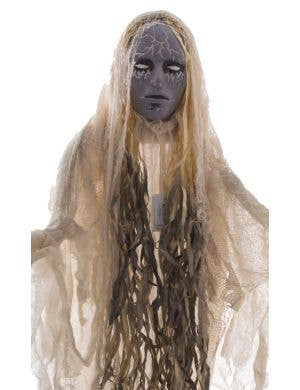 Haunting White Lady Ghost Standing Halloween Decoration