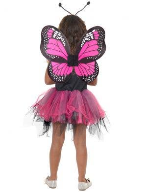 Fluttery Butterfly Girls Pink and Back Dress Up Costume