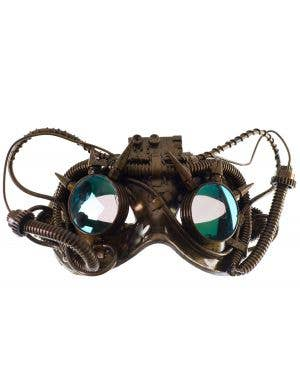 Antique Steampunk Gold Goggles Mask