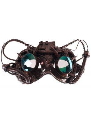 Antique Steampunk Copper Goggles Mask