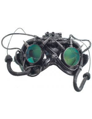 Antique Steampunk Silver Goggles Mask