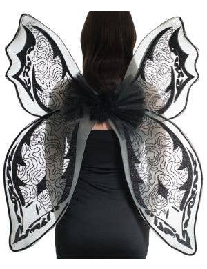 Giant Black Glitter Halloween Wings