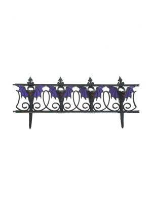 Gothic Black and Purple Halloween Picket Fence Decoration