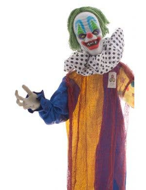 Creepy Clown Standing Halloween Animated Decoration