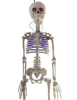 Light Up 30cm Hanging Skeleton Halloween Decoration