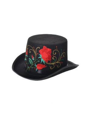 Day of the Dead Rose Black Top Hat