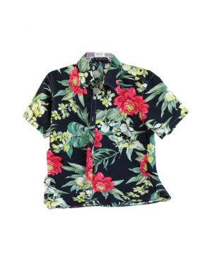 Tropical Island Getaway Men's Floral Hawaiian Shirt