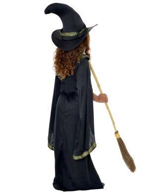 Black and Green Long Witch Girls Halloween Costume