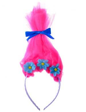Trolls Poppy Pink Hair on Headband Girls Costume Accessory