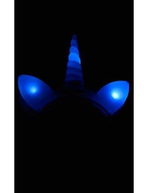 Unicorn Pale Blue Light Up Novelty Costume Headband
