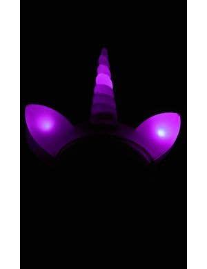 Unicorn Purple Light Up Novelty Costume Headband