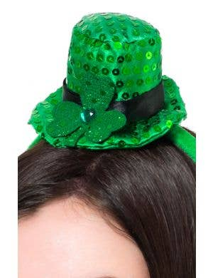 Mini Shamrock St Patrick's Day Hat Headband Accessory