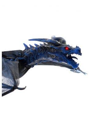 Flying Blue and Black Animated Dragon Halloween Decoration - 126cm Wing Span