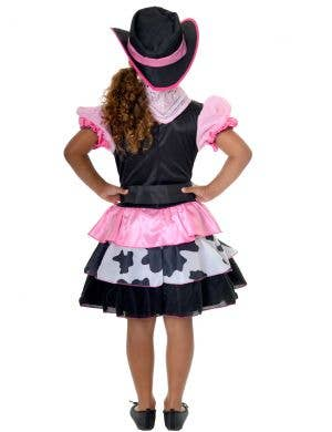 Cowgirl Pink and Black Girls Cowboy Dress Up Costume