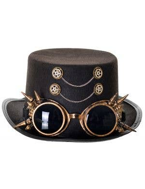 Clockwork Steampunk Black Top Hat Costume Accessory