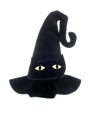 Cat Eye Velvet Witch Hat Halloween Accessory