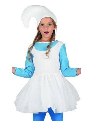 Woodland Blue Elf Girls Storybook Fancy Dress Costume