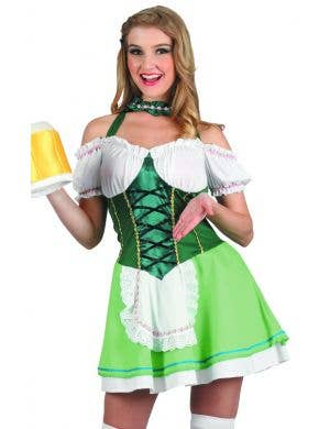 Beer Lady Women's Sexy Green Oktoberfest Costume