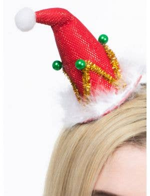 Mini Red Santa Hat Hair Clip