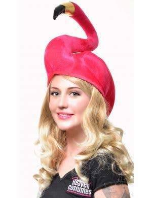 Flamingo Novelty Adult's Pink Hat Costume Accessory