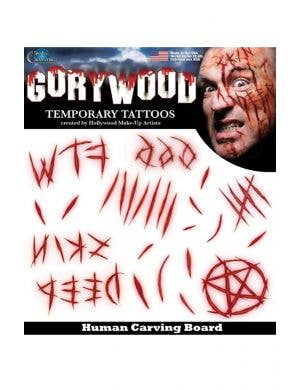 Human Carving Board Temporary Tattoo FX