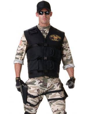 Seal Team Camoflage Men's Fancy Dress Costume