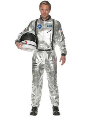 Astronaut Men's Silver Space Commander Fancy Dress Costume